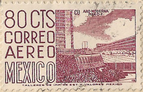 Sello postal mexicano, 1965. Fondo Margarita Obregón de Galindo. Archivo Histórico Juan Agustín de Espinoza, SJ. Ibero Torreón.